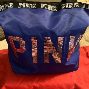 Pink Victoria secrets tote bag